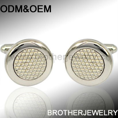 stainless steel fashion cufflinks painting embedded with Epoxy and Zircon