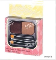 2012 brand makeup kit eyebrow Shaping Set 3 different colors ( 100 pcs / lot )