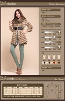 I.ME Korean OL Slim temperament Haining fashion fur coat long paragraph