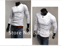 Мужская футболка men's wear long sleeve T-shirt cotton T-shirt cultivate one's morality sports fashion tattoo design T-shirt