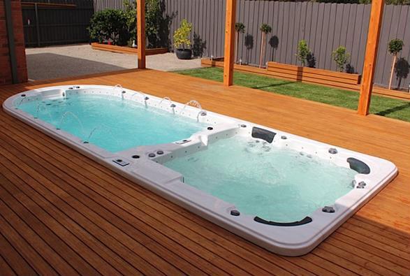 Swimming spa 6 person Dual zone endless swimming pool spa,exercise swim spa, spa pool JNJ SPA-8128