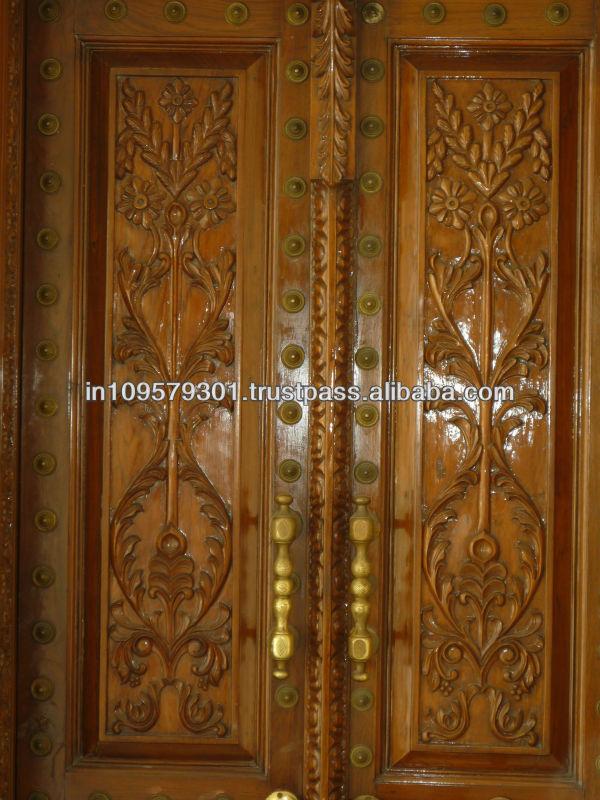 Large Main Entrance Solid Wood Hand Carved Door Buy Teak Wood Carving Doors