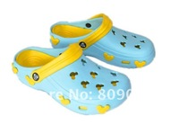 Женские кроксы The hole hole shoes mickey 2012 new beach shoes female cool slippers