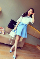 Женская юбка new spring women bow decoration high waist bust skirt C133