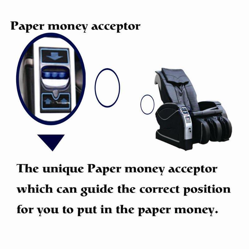 Dinheiro De Papel elétrico/Bill Operado Cadeira de Massagem