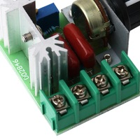 5pcs 220В 2000Вт скорость контроллер scr регулятор напряжения яркости dropshipping термостат диммеры