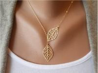 Продаем модные винтажные большой лист кулон ожерелье цепь ключицы