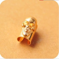 Min Order is $15 Free shipping fashion multi colored plating punk skull earrings ME010 Magi Jewelry