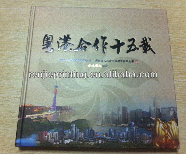 die cut hardcover book with case bound printing service