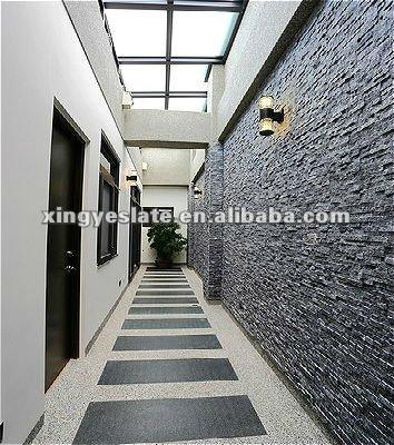 La d coration de mur de pierre quartz id de produit for Construction mur interieur