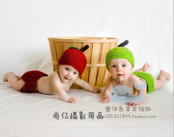 Leaves Pattern Crochet Baby Crochet Twins Leaves Hat