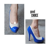 Туфли на высоком каблуке 2013 new sweet sexy fashion wedding shoes pumps ladies high heel shoes black blue
