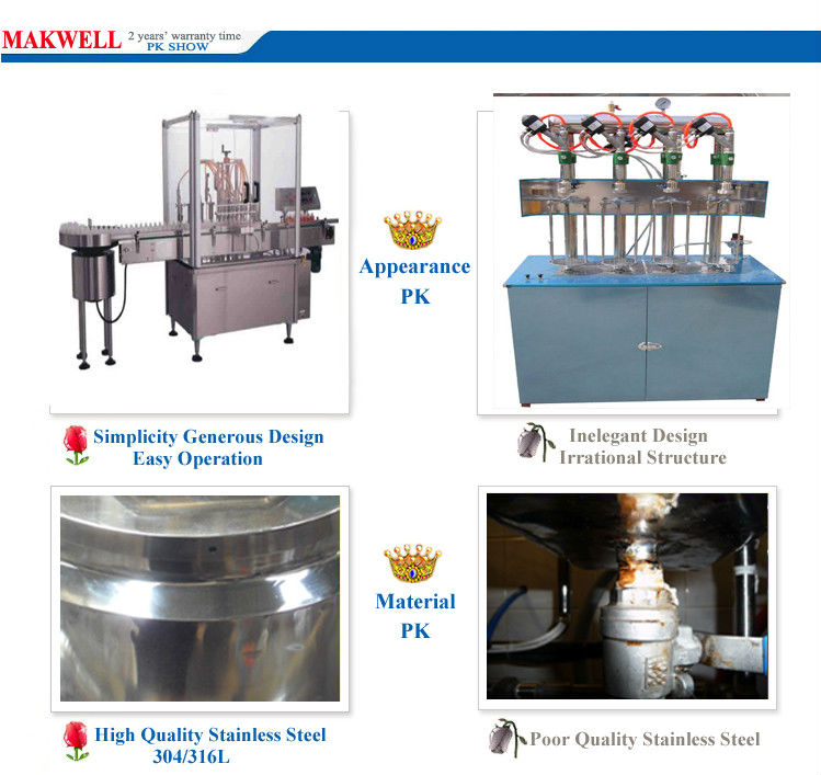 filling line oil/capping machine