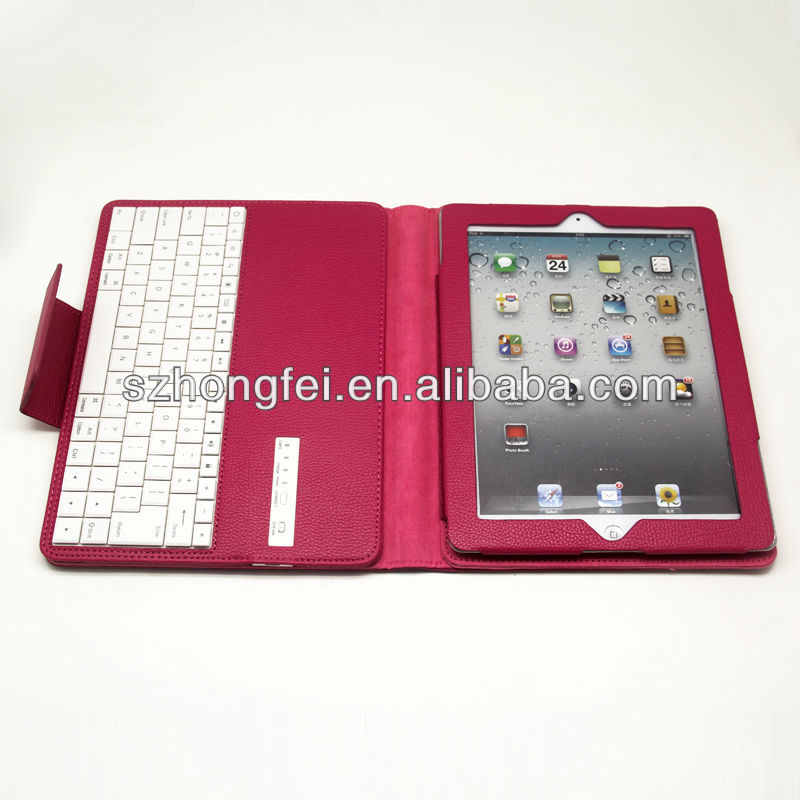 leather portfolio case for ipad 2 bluetooth wireless keyboard case for ipad 2
