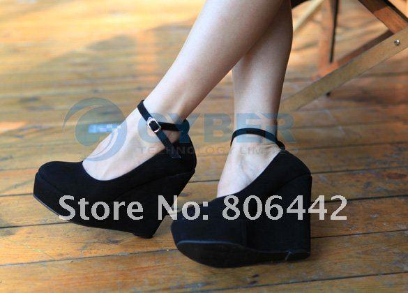 Чёрные Туфли На Платформе Фото