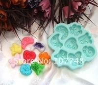 8-Ассорти цветочные гибкие силиконовые формы/формы для мыла свечи конфеты желе торт корабль