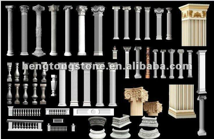 White Marble Wedding Decoration Pillar Design Buy