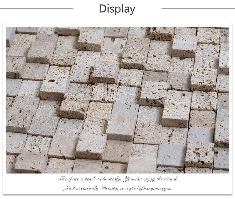 Jy-s-04 prime dosseret de carreaux de gros carré ondulés Beige ...