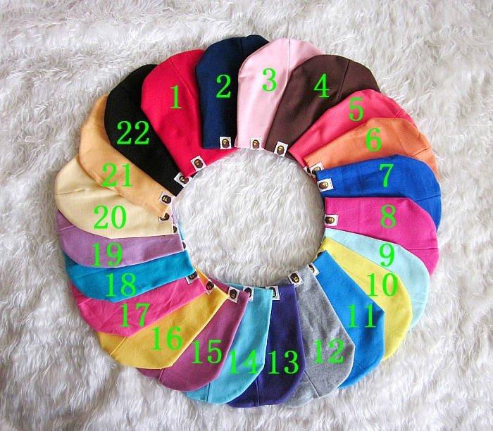 Бесплатная доставка Multi-цвет опционный ребенка шляпу, Детская капот, Весна & осенью шапку, от 1 до 3 лет 10pcs/lot.