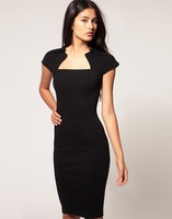 Платье знаменитостей Roland Mouret 2012 fashion silm pencil dress soft stretch ladies brand dress