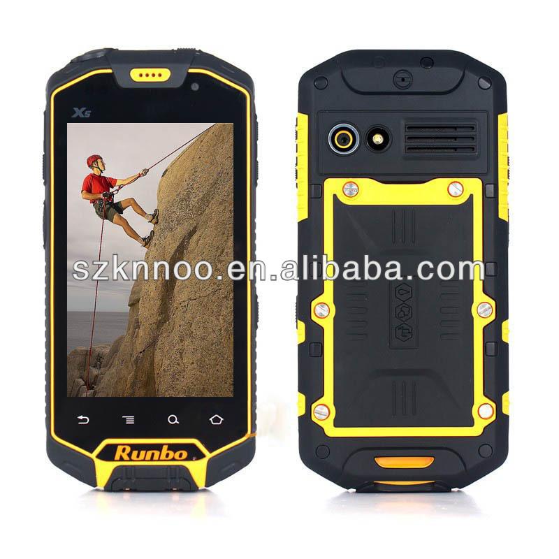 Original IP67 4.5 inch 8.0MP Camera MTK6577 Dual Core shockproof, dustproof ,waterproof Smartphone android Runbo X5 King