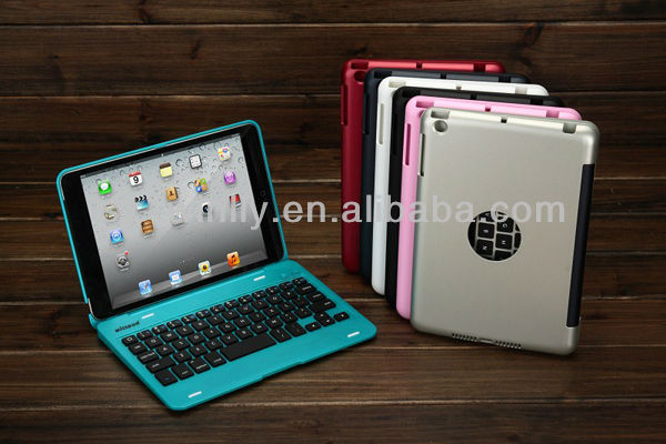 wireless mini bluetooth keyboard for ipad with Stand Case