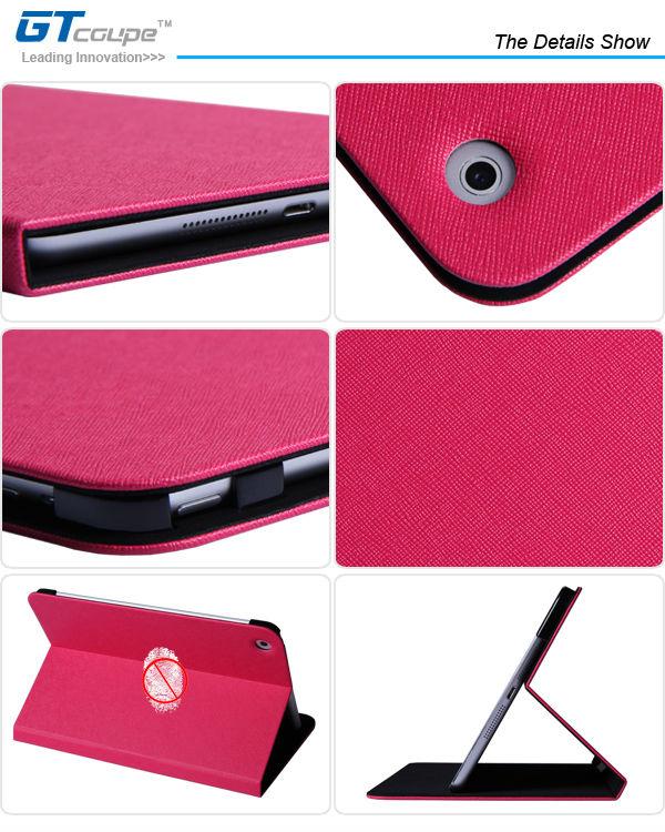 Stand Smart Slim Folio Flip PU Leather Case for iPad 2