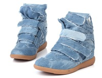 Женские кеды 2013 women sneakers heudauo height increasing color matching cowboy cloth