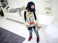 Джинсы для мальчиков new Children's clothing boy Girls' jeans hello kitty cowboy PP pants kid's trousers 2-7 years