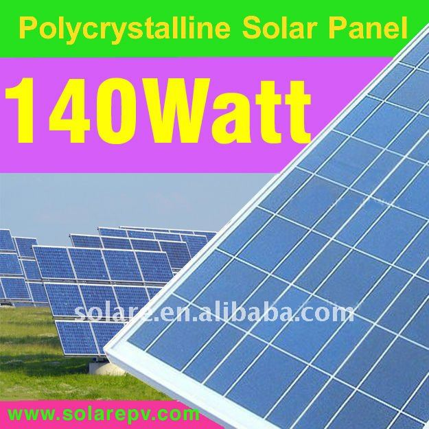 Poly solar panels 140W for mobile home with TUV CE certificate