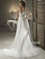 Best-selling! New One Shoulder Chiffon Venus Beaded Applique Floor Lengthr Wedding Dresses/bridal Gown /bridal dress Custom Made