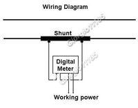 Измеритель величины тока 3 1/2 Red LED Digital AMP Panel Meter + Shunt AC 50A