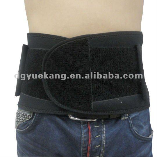 black neoprene back support
