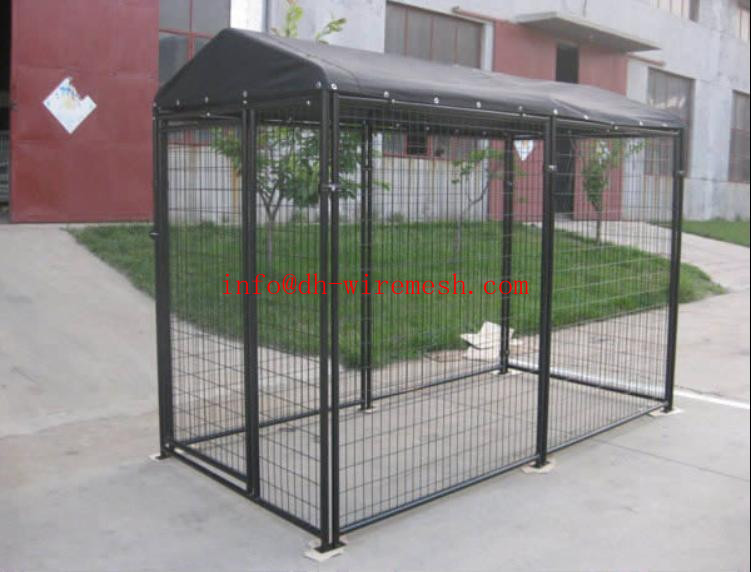 Powder Coated Large Steel Dog Kennel/Outdoor Dog Kennel(Factory)