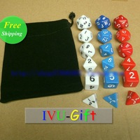 Игральные кости 18pcs Set multi-faceted dice digital dice DND game dice Dungeons & Dragons supporting sieve IVU Gift