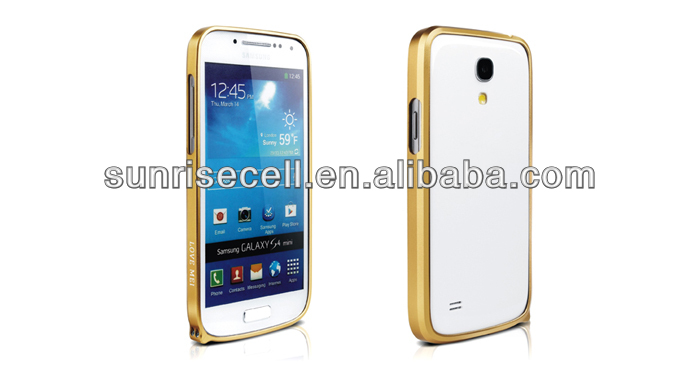 Hot Sell Aluminum Bumper Case For s4 Mini Samsung Galaxy s4