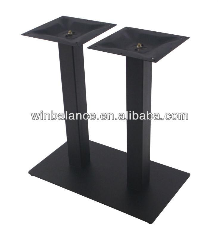 텍스처 검은 색 분말 스틸 사각 금속 테이블 다리-커피 테이블 ...