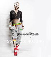 Hot HIP HOP street dancing/Soft Shell pants/street dancewear/embroidery REGGAE-colourful