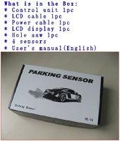 Система помощи при парковке factory price 4 waterproof ultrasonic sensor colorful LCD display auto detect sensor car accessory FT-802