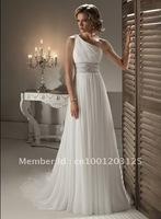 Фондовый белый шифон свадебное платье невесты платье 6 8 10 12 14 16 обратно кружева up