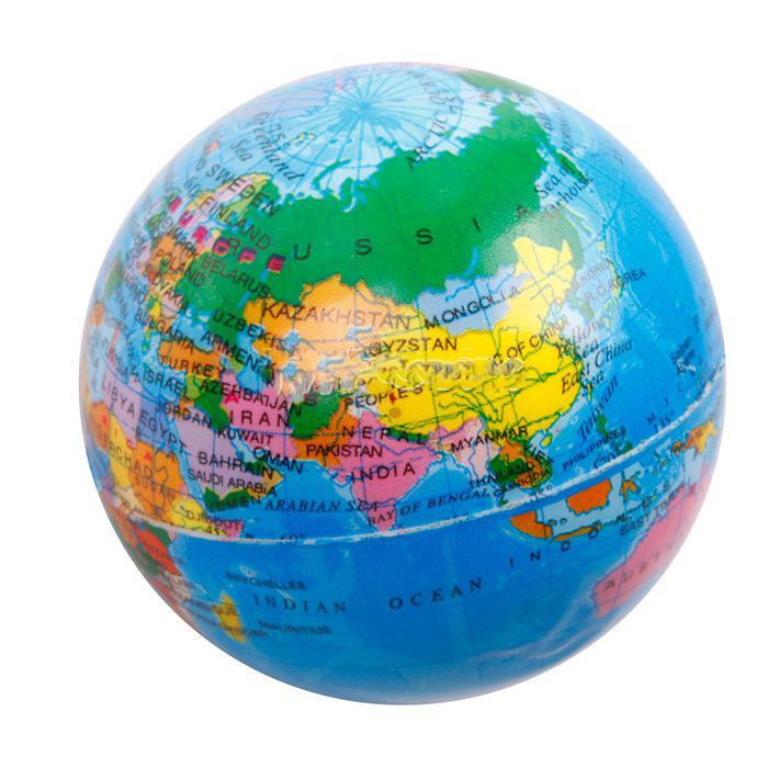 World Map Cartoon Globe Foam World Map Earth Globe