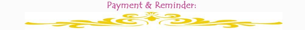 payment & reminder copy