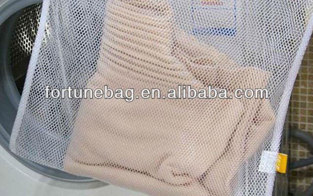 Saco de Roupa de Malha de Nylon com zíper