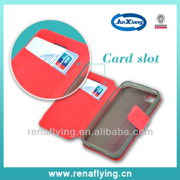 AAA quality stand PU leather case for iphone 4g 4s