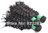3pcs много кудрявый фигурные бразильский волос ткать, 100г/пачка естественный цвет волос расширение смешанные длина