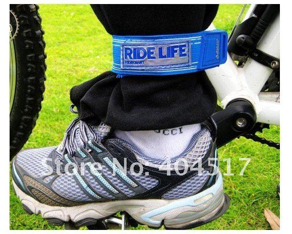 Free shipping! Bicycle Elasticity Pants Strap Trouser Band Belt Reflect Light Belt Bicycle Accessories