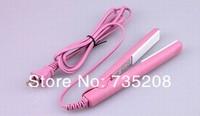 Мини Розовый керамические электронные волос Выпрямители 220-240v выпрямления гофрированного железа dhl