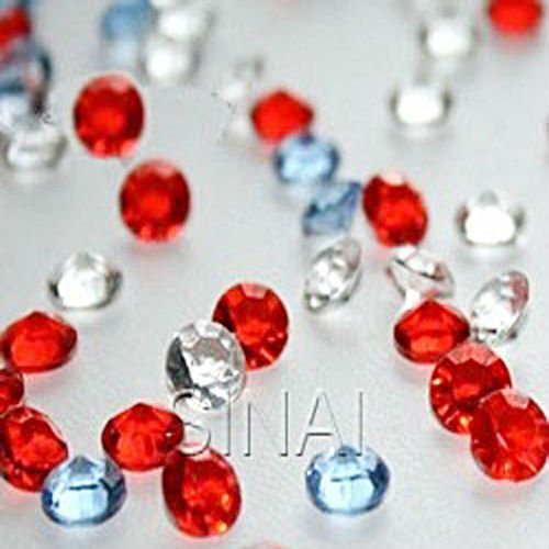 Wedding Decoration Red 4.5mm Acrylic Diamond