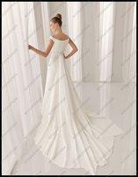 Свадебное платье EM-A036 Popular Style Scoop Neckline Cap Sleeve Wedding Dress 2012 With Long Train
