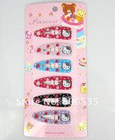 Детский аксессуар для волос Mixed Color Hello Kitty Children Hair Accessory Haripin Snap Hair Clips Girls 90pcs